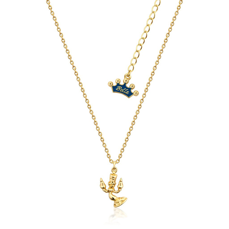 Couture Kingdom Disney Beauty and the Beast Yellow-Gold Lumiere Necklace Junior jewellery