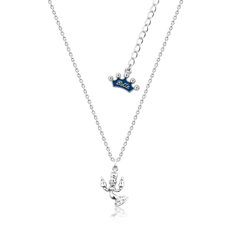 Couture Kingdom Disney Beauty and the Beast Silver Lumiere Necklace Junior jewellery