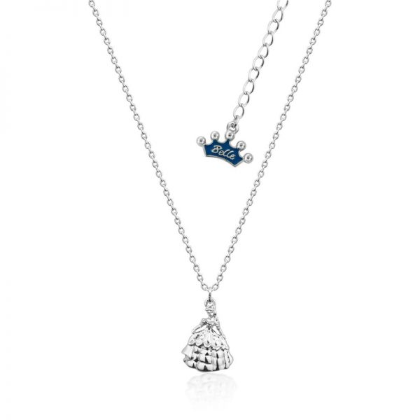 Couture Kingdom Disney Beauty and the Beast Silver Princess Belle Necklace Junior jewellery