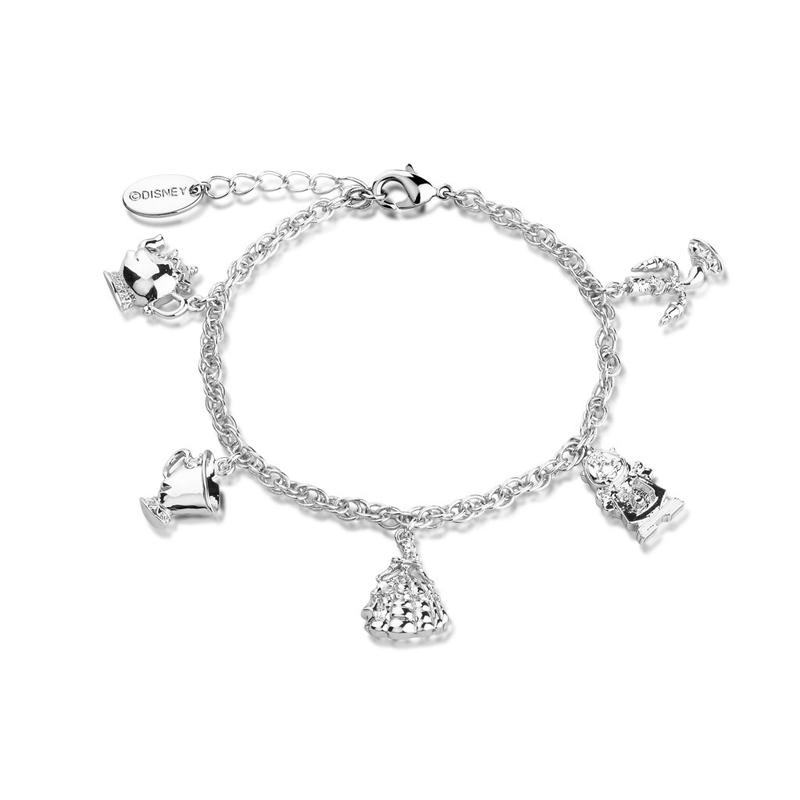 Beauty and the Beast Silver Charm Bracelet DSBR332a