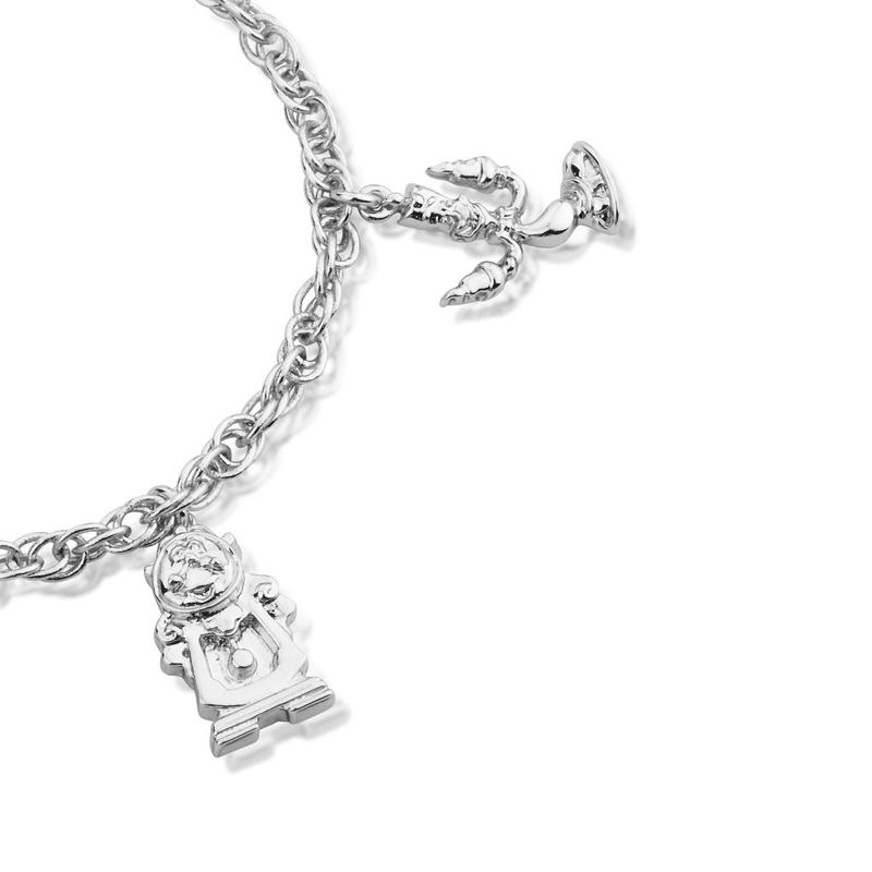 Beauty and the Beast Silver Charm Bracelet DSBR332b