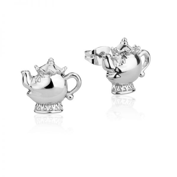Couture Kingdom Disney Beauty and the Beast Silve Mrs Potts Stud Earring jewellery