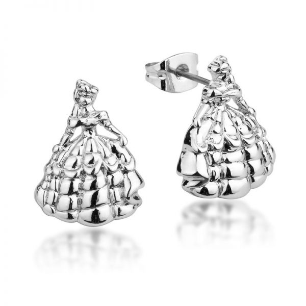 Couture Kingdom Disney Beauty and the Beast Silver Princess Belle Stud Earring jewellery