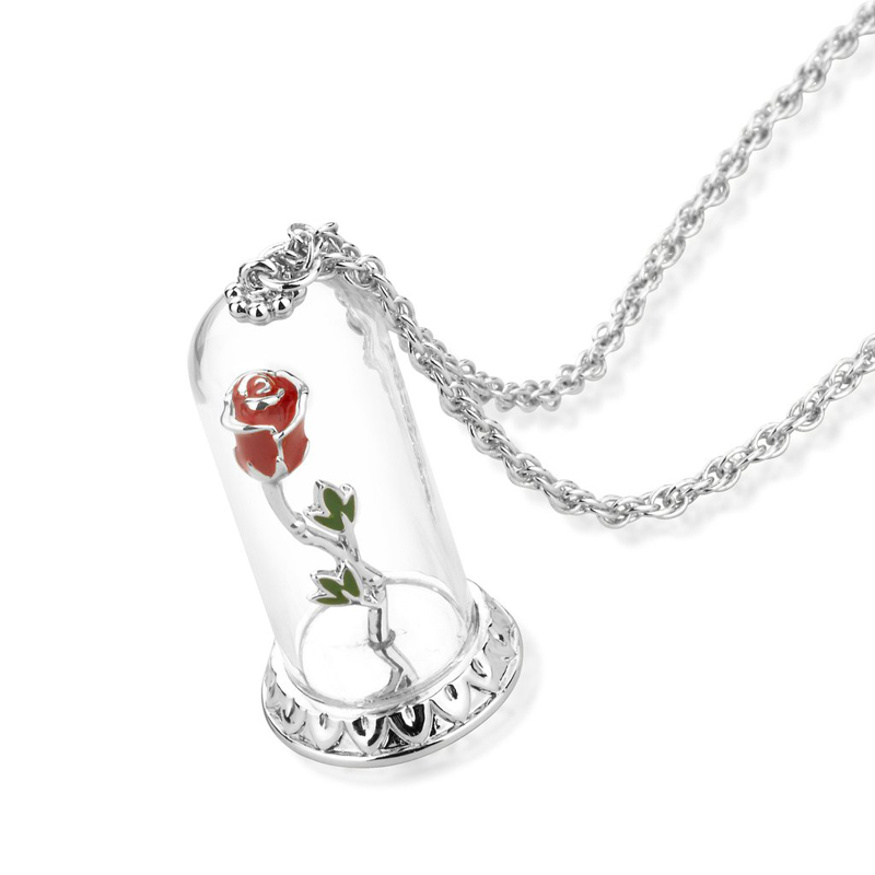 Couture Kingdom Disney Silver Enchanted Rose Necklace jewellery