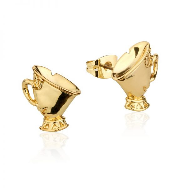 Couture Kingdom Disney Beauty and the Beast Chip Yellow-Gold Stud Earring jewellery