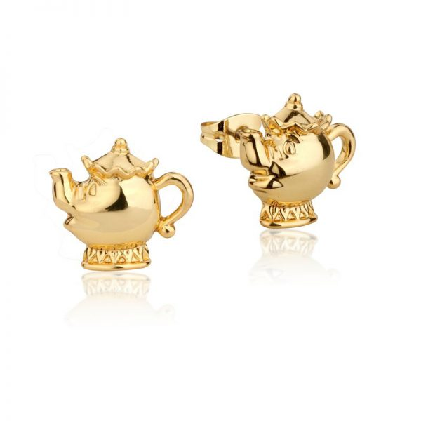 Couture Kingdom Disney Beauty and the Beast Yellow-Gold Mrs Potts Stud Earring jewellery
