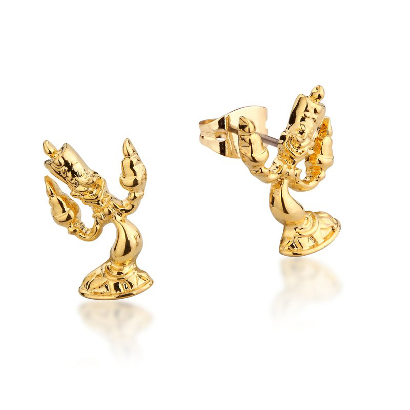 Couture Kingdom Disney Beauty and the Beast Yellow-Gold Lumiere Stud Earring jewellery
