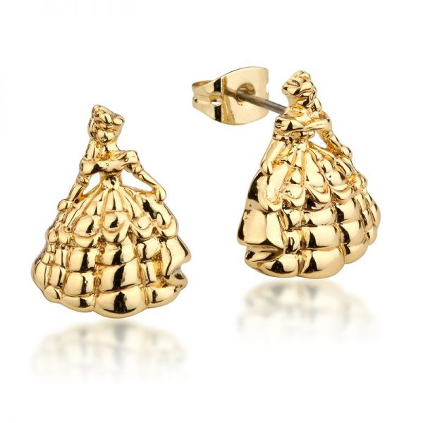 Couture Kingdom Disney Beauty and the Beast Yellow-Gold Princess Belle Stud Earring jewellery