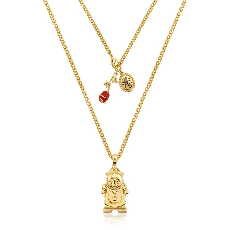 Couture Kingdom Disney Beauty and the Beast Yellow-Gold Cogsworth Necklace jewellery