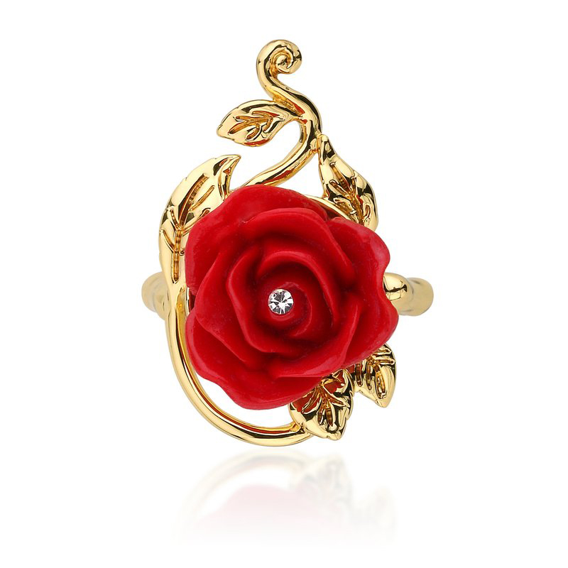 883c39a1b Disney Beauty and the Beast Enchanted Rose Ring - Asha Jewelry