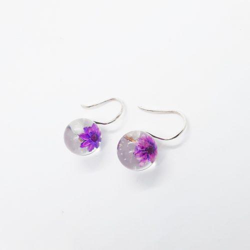 BOTANIGEM Daisy Dew Earrings Purple