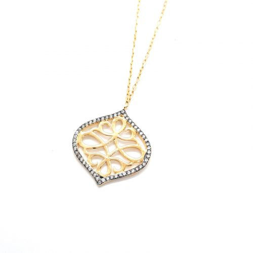 Filigree Yellow Gold Plated Silver Necklace