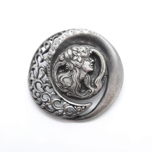 Goddess Antique Brooch