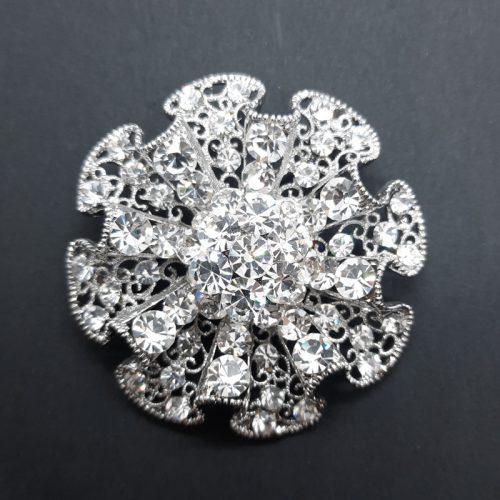 Big Round Crystal Brooch