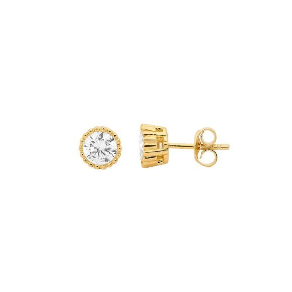 EE014 Yellow Gold Plated Silver Studs