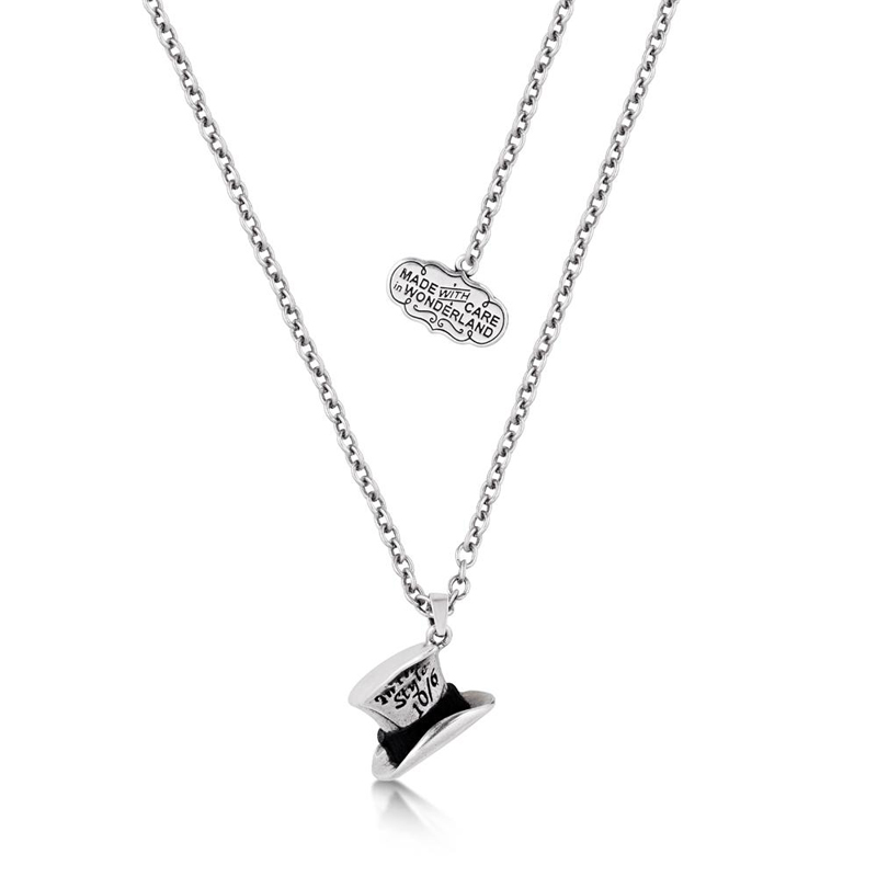Alice in Wonderland MAD HATTER In this Style 10//6 Charm Pendant Silver Necklace
