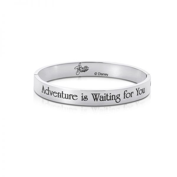 Couture Kingdom White Gold Disney Princess Beauty and the Beast Belle Bangle