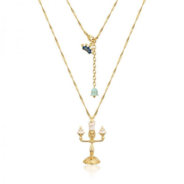 Couture Kingdom Disney Beauty and the Beast Yellow-Golad Lumiere Necklace jewellery