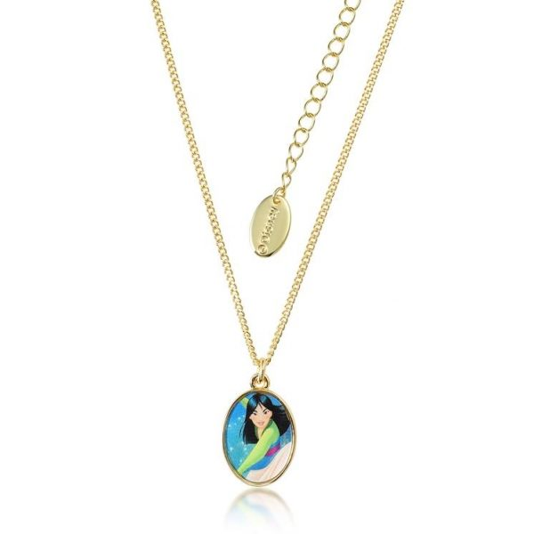 Kids Couture Kingdom Disney Princess Mulan Yellow-Gold Necklace jewellery