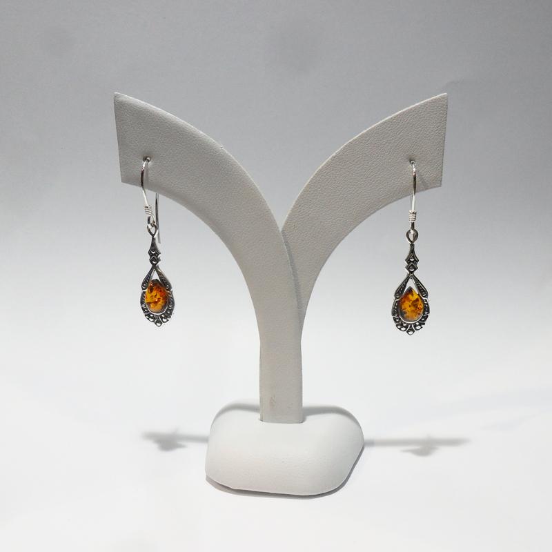 Genuine Baltic Amber Earrings 058