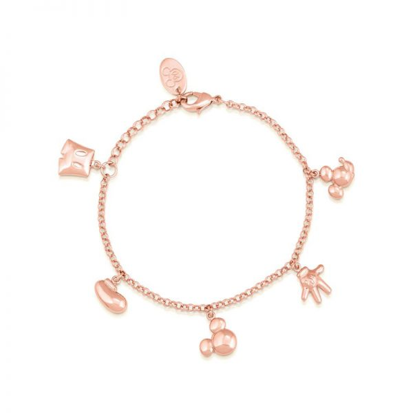 Disney Mickey Mouse Icon Charm Bracelet Rose Gold