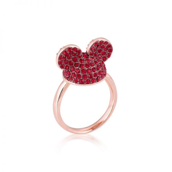 Disney Mickey Mouse Ear Hat Ring Red & Rose Gold