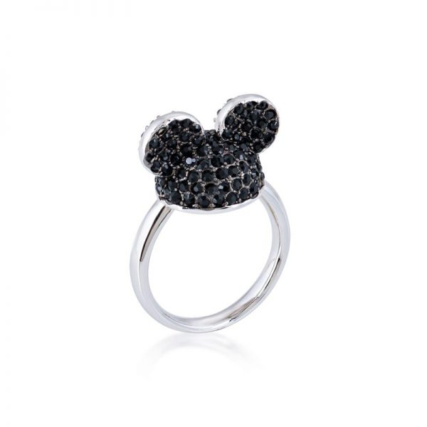 Disney Mickey Mouse Ear Hat Ring Black & Silver