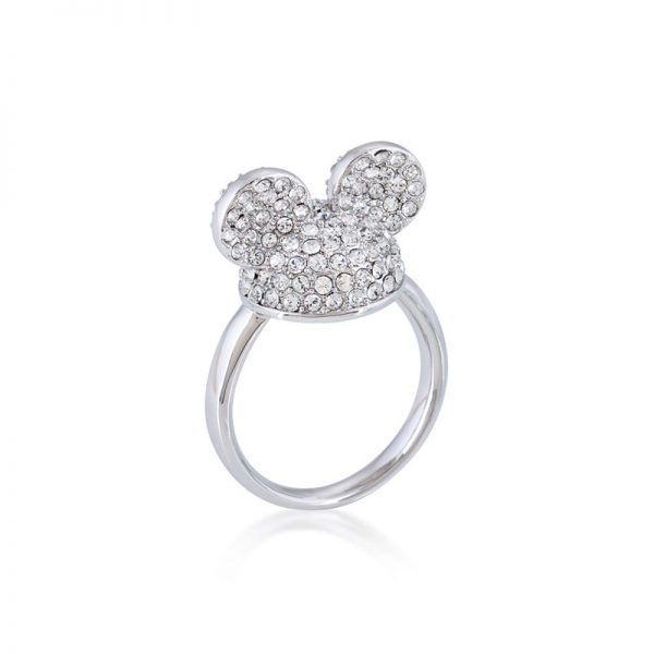 Disney Mickey Mouse Ear Hat Ring White Gold