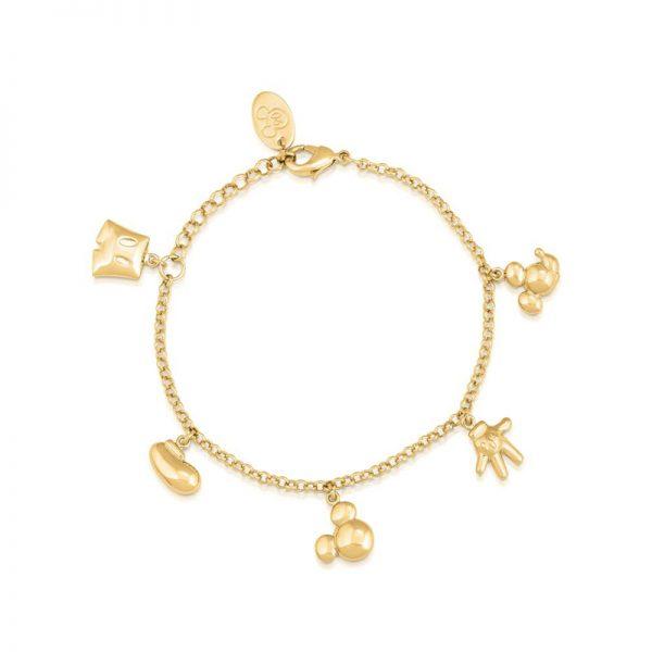 Disney Mickey Mouse Icon Charm Bracelet Yellow Gold