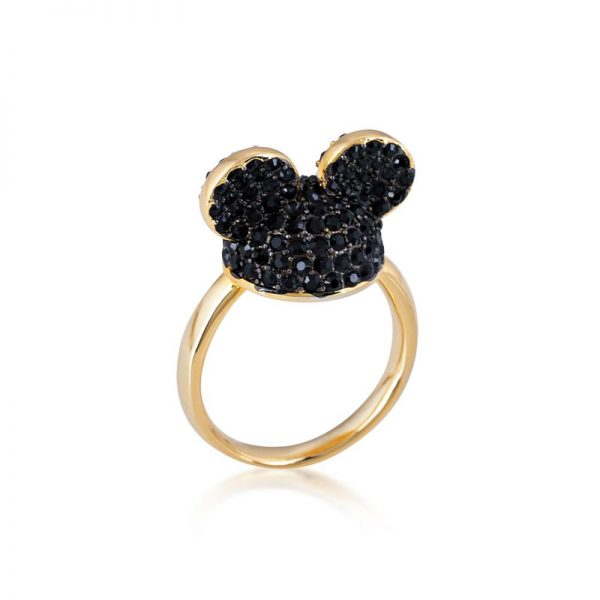 Disney Mickey Mouse Ear Hat Ring Black & Gold