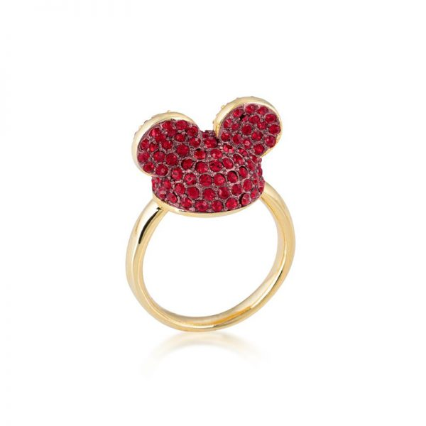 Disney Mickey Mouse Ear Hat Ring Red & Gold