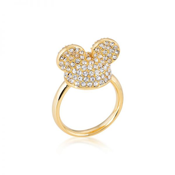 Disney Mickey Mouse Ear Hat Ring Yellow Gold