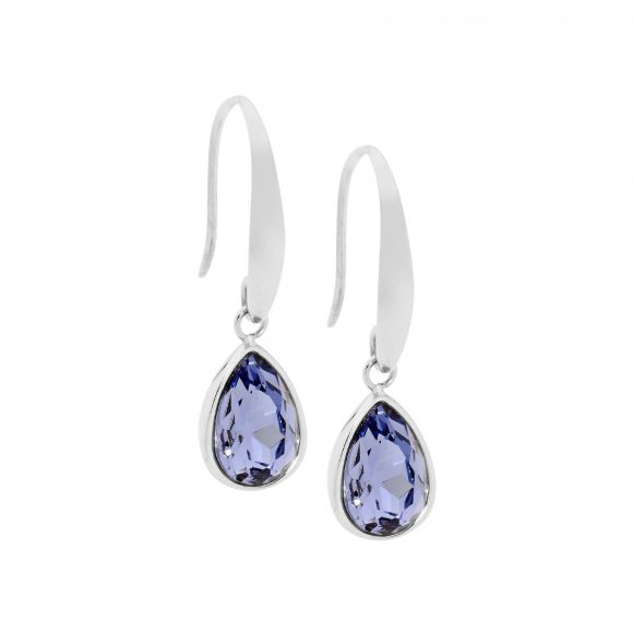 Amethyst Colour Stainless Steel Earrings