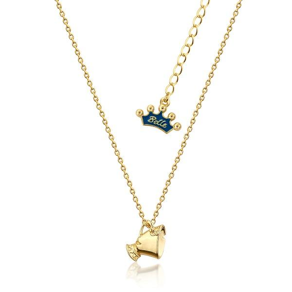 Couture Kingdom Disney Yellow-Gold Kids Beauty and the Beast Chip Necklace jewellery
