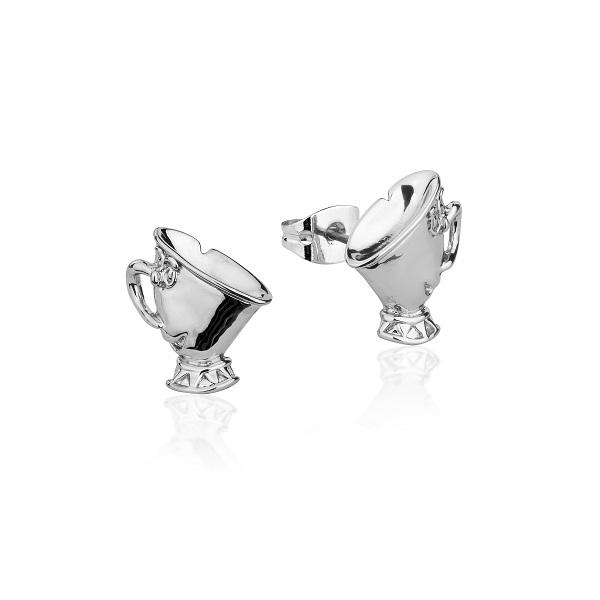 Couture Kingdom Disney Beauty and the Beast Chip Silver Stud Earring jewellery