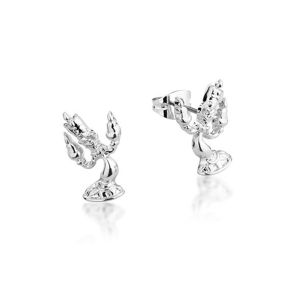 Couture Kingdom DIsney Beauty and the Beast Silver Lumiere Stud Earring jewellery