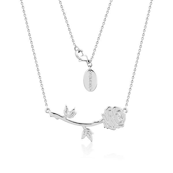 Couture Kingdom Disney Silver Beauty and the Beast Rose Necklace jewellery