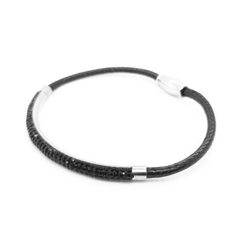 Black Swarovski Crystal Bracelet