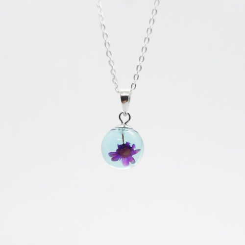 BOTANIGEM Dew Drops Necklace Aqua