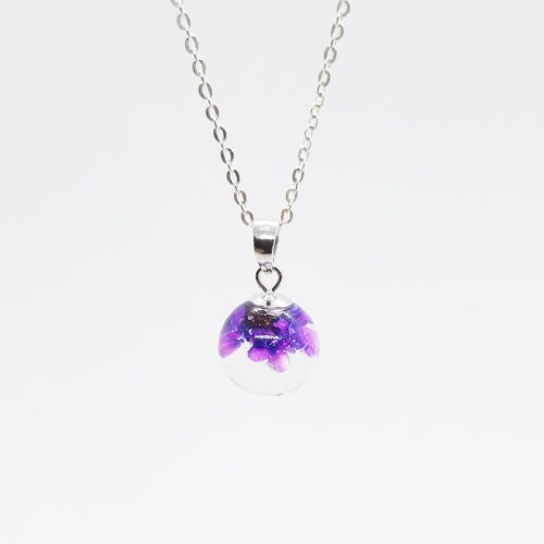 BOTANIGEM Dew Drops Necklace Purple
