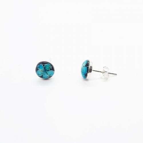 Petite Blue Stud Onyx Earrings