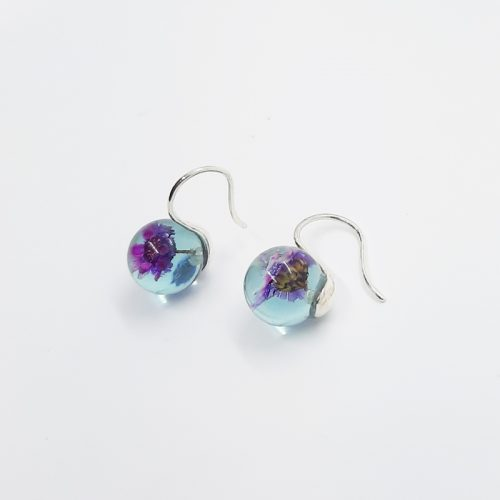 Daisy Dew Earrings Aqua