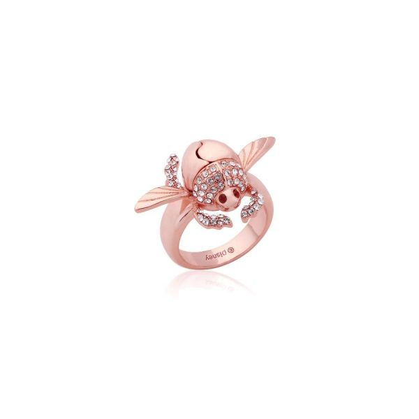 Disney Aladdin Golden Scarab Beetle Ring Rose Gold
