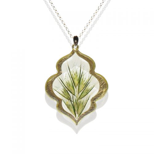 Faith Necklace with Bottle Brush Native Grass