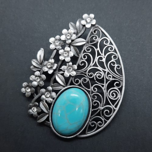 Synthetic Turquoise Brooch
