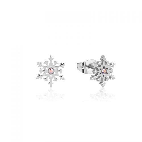 Disney Snowflake Crystal Stud Earrings Sterling Silver