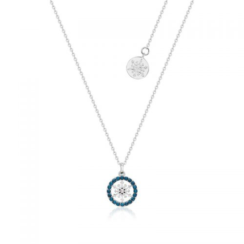 Disney Frozen Snowflake December Birthstone Crystal Necklace Sterling Silver Couture Kingdom