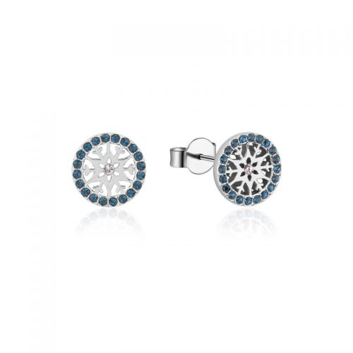 Disney Frozen Snowflake December Birthstone Stud Earrings Sterling Silver Couture Kingdom