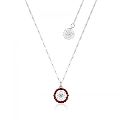 Disney Frozen Snowflake January Birthstone Crystal Necklace Sterling Silver Couture Kingdom