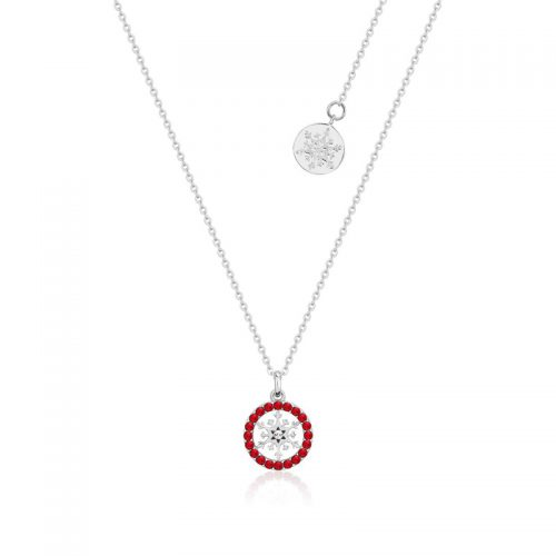 Disney Frozen Snowflake July Birthstone Crystal Necklace Sterling Silver Couture Kingdom
